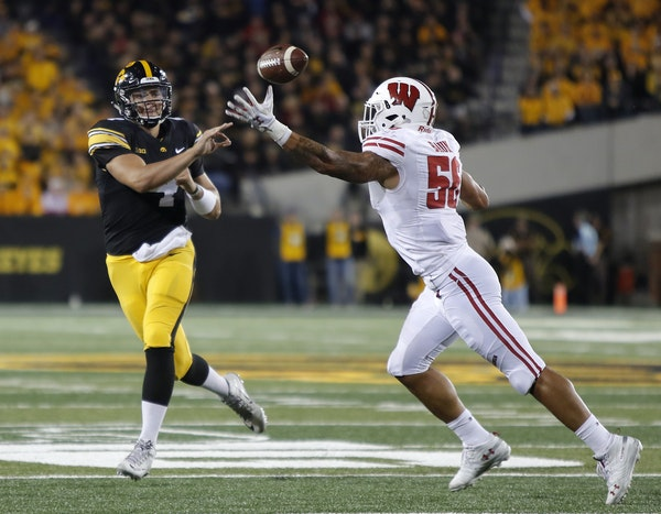 Nate Stanley is in his second year as Iowa's starting quarterback and, at 6-4 and 242 pounds, he's tough to get on the ground.