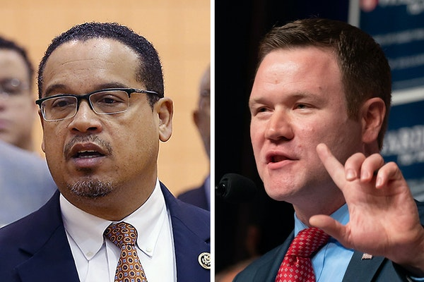 U.S. Rep. Keith Ellison, left, and Doug Wardlow are the major-party candidates for Minnesota attorney general.