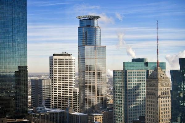 The downtown Minneapolis skyline.