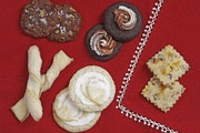 Chocolate Toffee Cookies, Cranberry Cornmeal Shortbread Cookies (winner), German Sour Cream Twists, Limoncello Kisses and Mocha Cappuccino Cookies fro