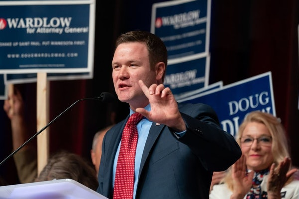 Doug Wardlow, the Republican candidate for attorney general, says he would leave behind policy advocacy if he gets the job on Nov. 6.