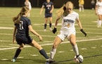 Mahtomedi's Sydney Panek, a junior midfielder with a strong right leg and a stronger will to win, raced upfield in the final minute of the Class 1A, S