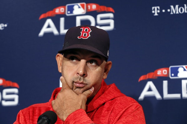 Boston's Alex Cora is in the American League Manager of the Year conversation.