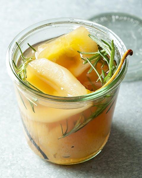 Rosemary and Vanilla Spiced Pears