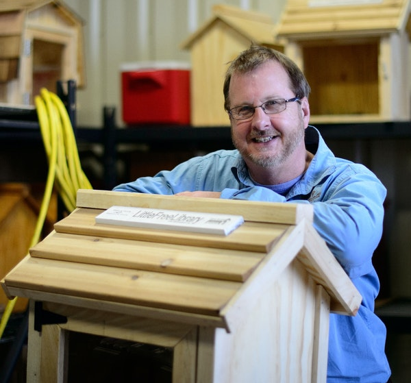 Todd Bol built the first Little Free Library nine years ago. Now they're in 88 countries.