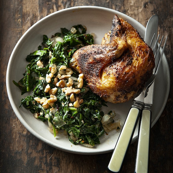 Braised Spinach With Persian Spices. Photo by Mette Nielsen * Special to the Star Tribune