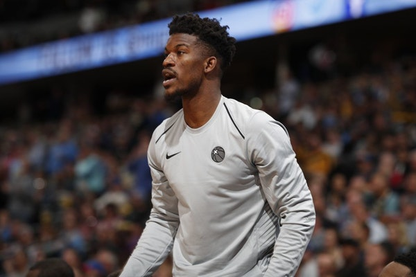 Target Center fans boo Jimmy Butler during introductions