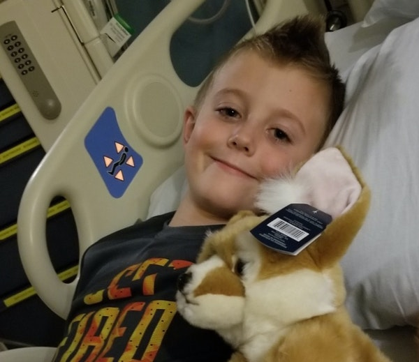 Quinton Hill, 7, lost movement in one arm last month due to a mysterious syndrome known as acute flaccid myelitis. Treatment at Children's Hospital
