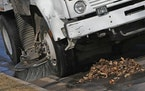 Fall street sweeping underway in Minneapolis and St. Paul