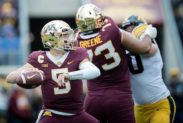 Gophers quarterback Zack Annexstad had good and bad moments against Iowa — three touchdowns, three interceptions — but coach P.J. Fleck admires hi