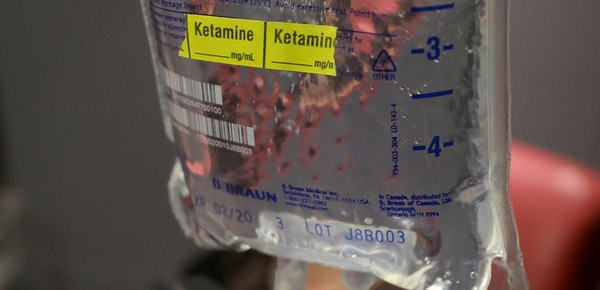 Ketamine is a powerful anesthetic agent that induces a trance-like, sometimes hallucinatory, dissociative state.