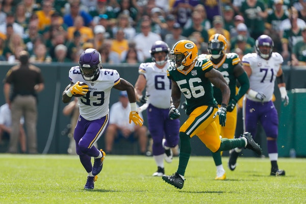 Vikings running back Dalvin Cook (33) has missed five of the past six games, including four in a row.
