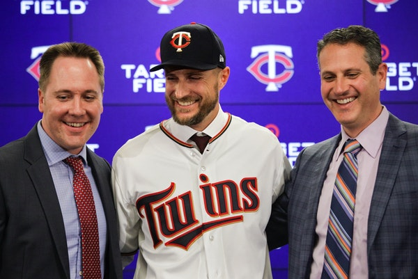 New Twins manager Rocco Baldelli was introduced to the media Thursday afternoon at Target Field alongside Chief Baseball Officer Derek Falvey and Seni