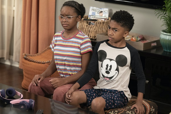 """On the 100th episode of """"Black-ish,"""" the family is shocked to learn that Jack (Miles Brown) and Diane (Marsai Martin) are not familiar with the iconic"""