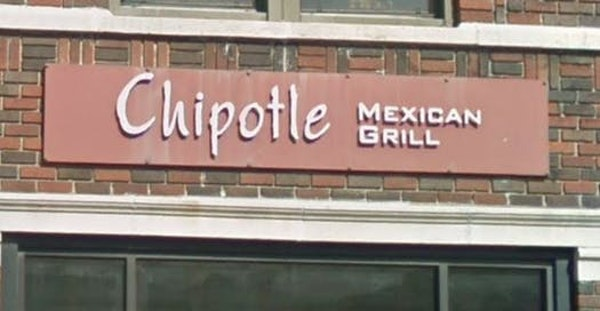 The sign on the Chipotle restaurant on Grand Avenue in St. Paul.