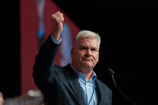 U.S. Rep. Tom Emmer, at the Republican state convention in Duluth.
