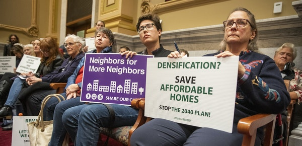 Minneapolis City Council members voted last month to move forward on the 2040 plan after getting approval from the Metropolitan Coun