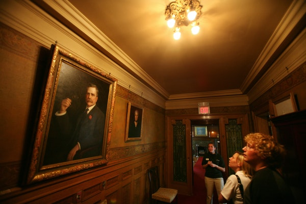 Portraits of Chester and Clara Congdon, the wealthy heads of the Congdon family, still hang proudly in the halls of the Glensheen mansion.