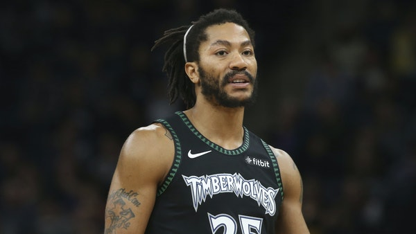 Derrick Rose scored 50 points the last time he wore the Wolves throwback uniforms; Monday night against Houston, he didn't score any.