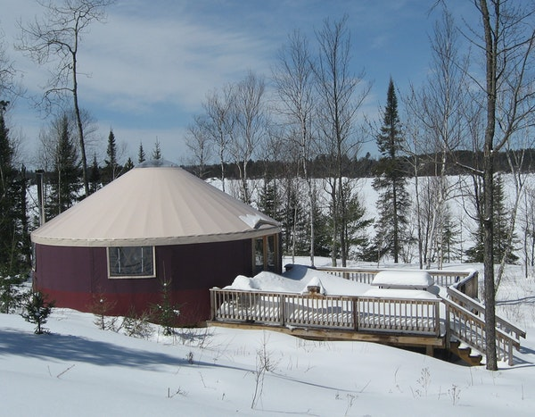 The yurt on Burntside Lake has been a good, cheaper alternative to a cabin.
