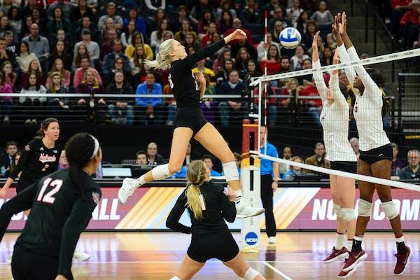 Nebraska middle blocker Lauren Stivrins