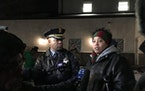 Minneapolis Police Chief Medaria Arradondo and Chauntyll Allen, an organizer with Black Lives Matter Twin Cities, spoke outside the Fourth Precinct po