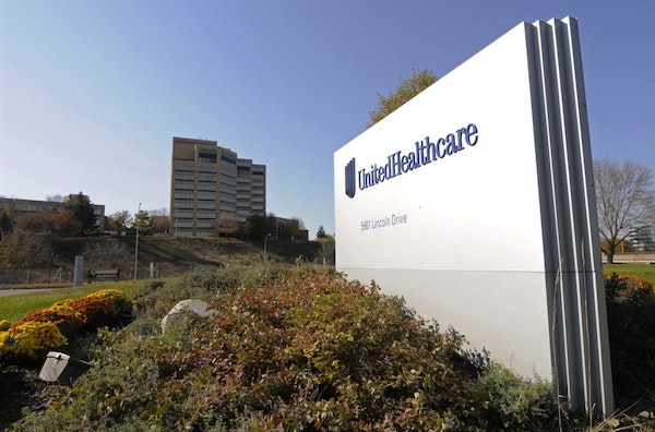 FILE - This Oct. 16, 2012, file photo, shows a portion of the UnitedHealth Group Inc.'s campus in Minnetonka, Minn.