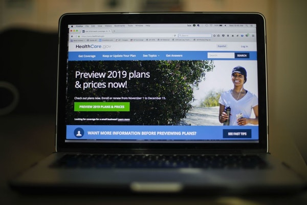 The HealthCare.gov website is photographed in Washington, Wednesday, Oct. 31, 2018. Health insurance sign-ups for the Affordable Care Act are down wit