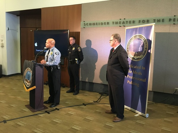 Minneapolis Police Chief Medaria Arradondo joined colleagues from around the state Wednesday to discuss the challenges of recruiting, hiring and retai