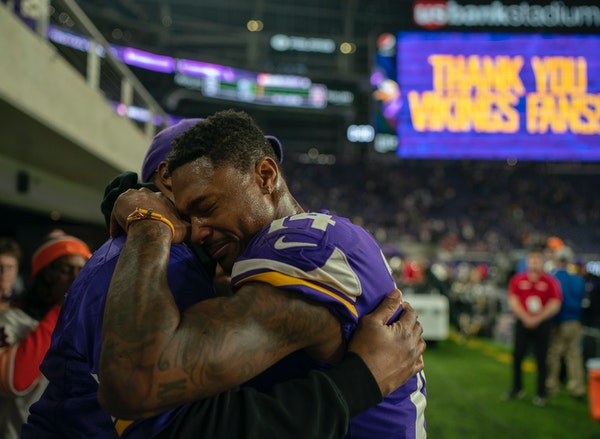 Wide receiver Stefon Diggs felt the pain sinking in Sunday after the Vikings — a team harboring Super Bowl dreams entering the season — missed the