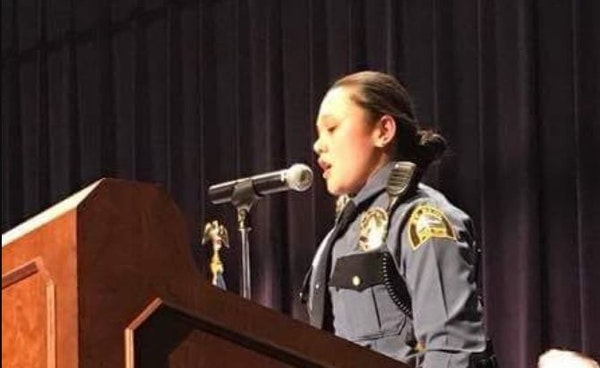 St. Paul police officer Anna Taylor stars in a video aimed at recruiting more women.