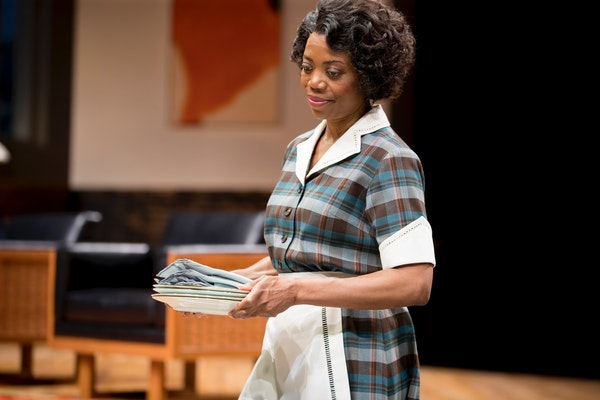 """Regina Marie Williams as Tillie in """"Guess Who's Coming to Dinner"""" at the Guthrie Theater in Minneapolis."""