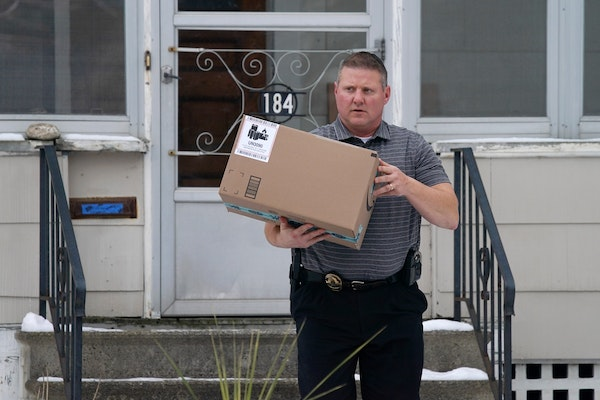 Sgt. Dave Strecker with the St. Paul Police Department retrieved a package containing a GPS tracker in it that was placed on a resident's front steps