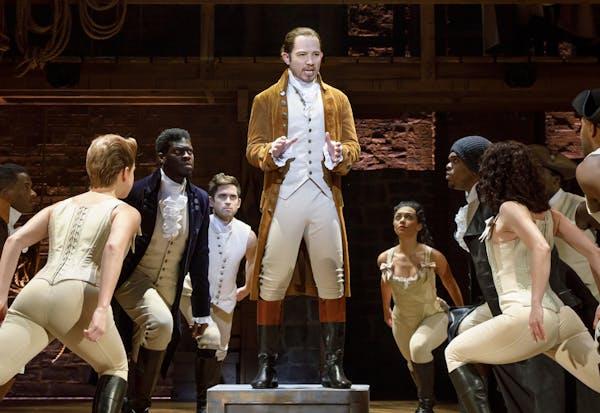 "Joseph Morales as Alexander Hamilton in the tour of the blockbuster musical ""Hamilton."""