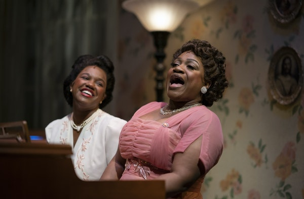 """Rajané Katurah Brown and Jamecia Bennett in """"Marie and Rosetta."""""""