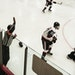 Hockey official C.J. Beaurline called a tripping penalty at a recent high school game between Centennial and Duluth East.