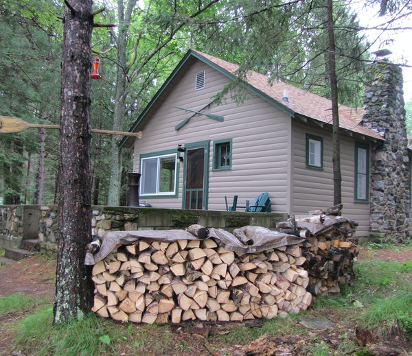 Yard maintenance is assigned to Mother Nature at the cabin in Boulder Junction, Wis.