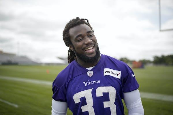 Vikings rookie running back Dalvin Cook