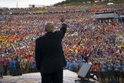 President Donald Trump at the Boy Scouts of America's 2017 National Scout Jamboree at the Summit Bechtel National Scout Reserve in Glen Jean, W.Va., o