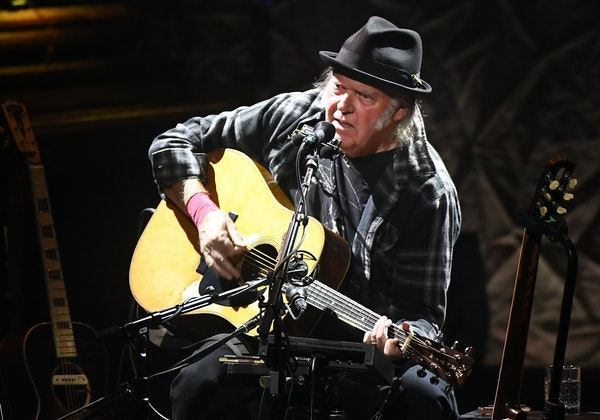 Neil Young performed Saturday at the Pantages Theatre in Minneapolis, the first of four shows over six days.