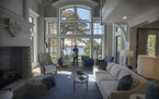 A huge French-stye mansion on Lake Minnetonka.