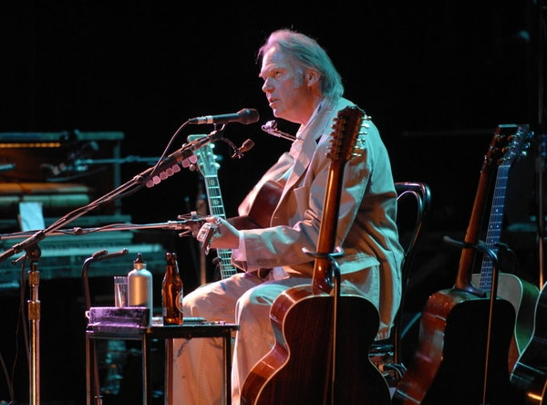 Neil Young also performed unplugged at Northrop in 2007 and 2010, before the auditorium's $88 million makeover.