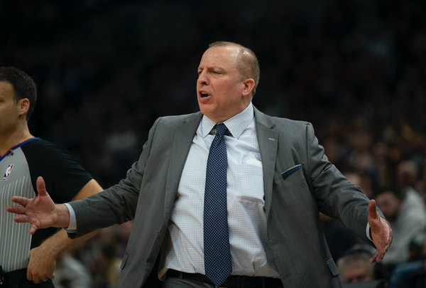 The Timberwolves fired coach and president of basketball operations Tom Thibodeau shortly after the team defeated the Los Angeles Lakers 108-86 at Tar