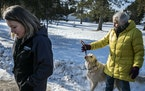 Kristin Kasinskas, left, said that around 4 p.m. Thursday, Jan. 10, 2019, Jeanne Nutter, left, and her dog, Henry, brought Jayme Closs to their their
