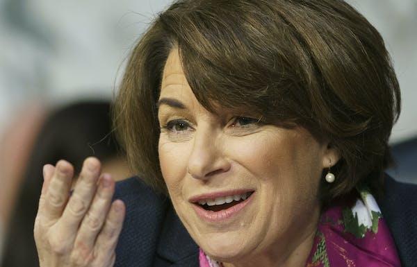 Senate Judiciary Committee member Sen. Amy Klobuchar, D-Minn.,