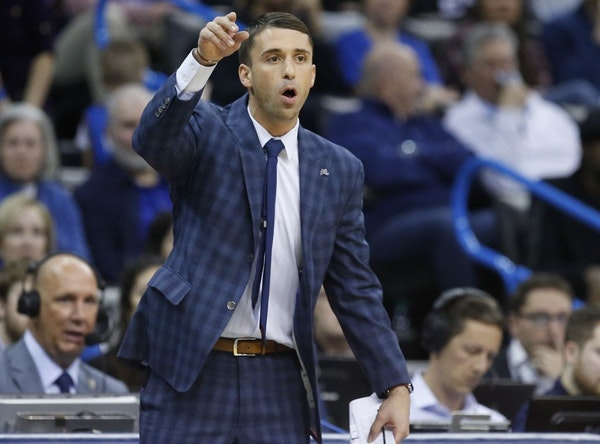Minnesota Timberwolves interim head coach Ryan Saunders gestures in the first half of an NBA basketball game against the Oklahoma City Thunder in Okla