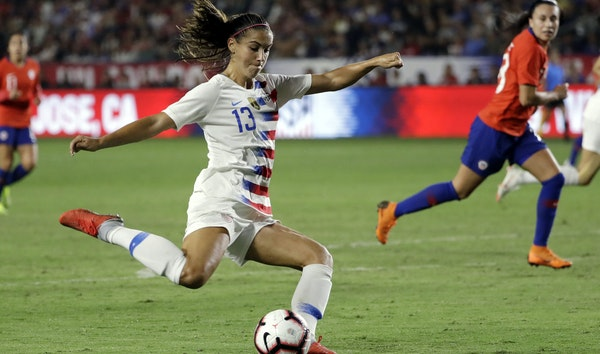 With 98 goals in 153 games, Alex Morgan remains a force for the United States women's soccer team, which will try to win its fourth World Cup this s