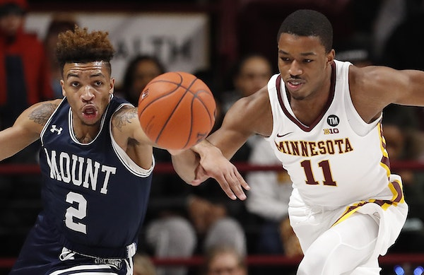 """Gophers guard Isaiah Washington shows flashes of great play but is not reliable enough to be Minnesota's primary point guard. """"He's got to be ab"""