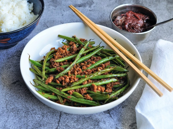 Spicy Stir-Fried Green Beans and Pork.
