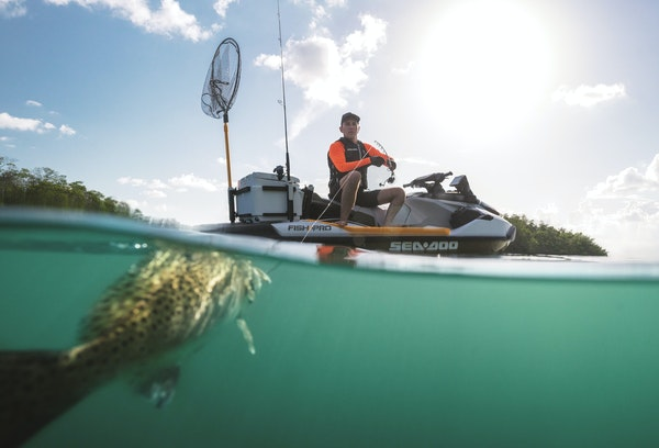 The Sea-Doo Fish Pro 155 is aimed at anglers who want something less complicated than a boat that's high-powered, hassle-free and suitable for solo